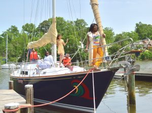 sailboat charter rentals Chesapeake bay bareboat Annapolis md south river family birthday