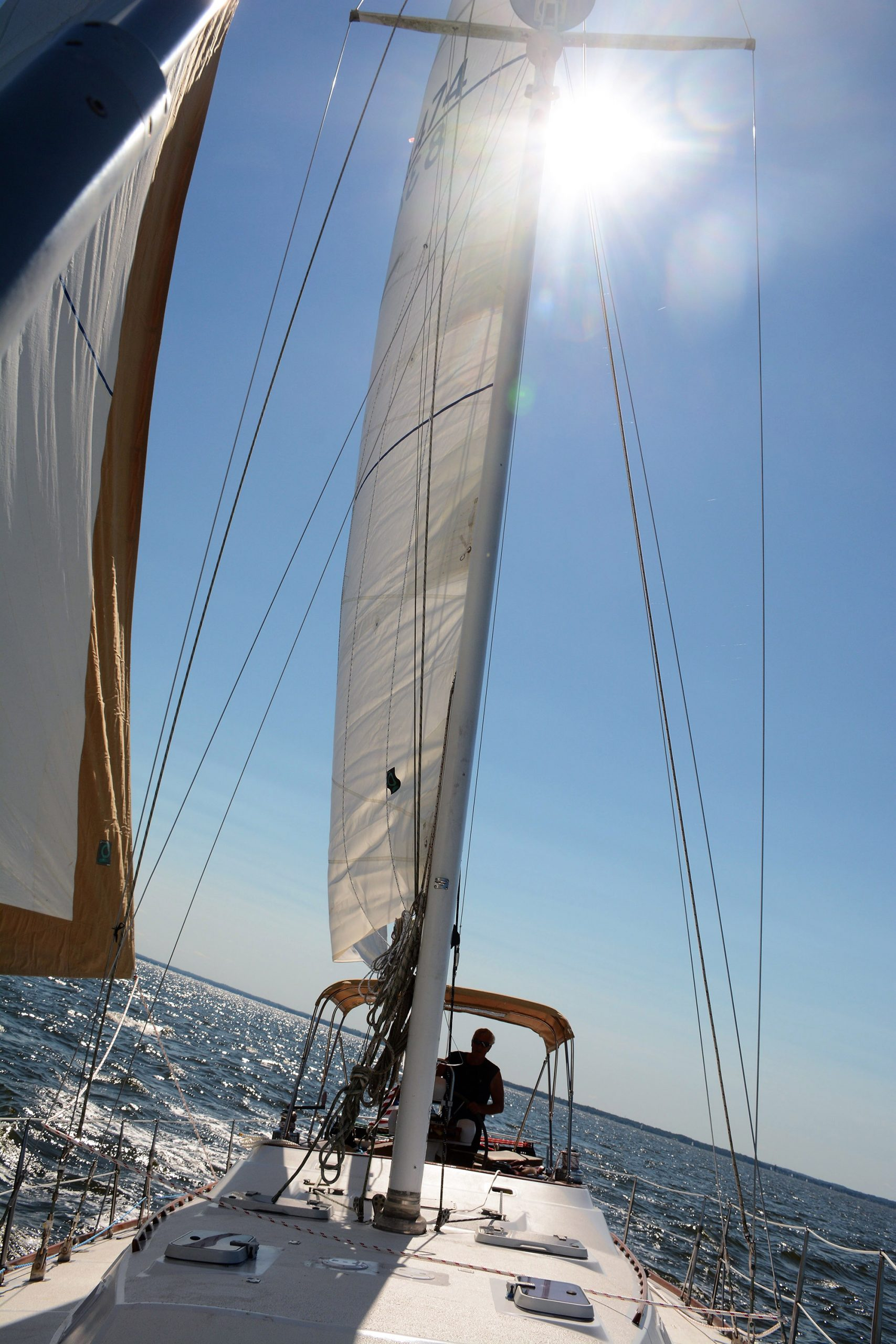 sailboat charter rental Chesapeake bay bareboat Annapolis md south river family birthday