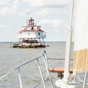 Thomas point shoal lighthouse Chesapeake bay Annapolis MD